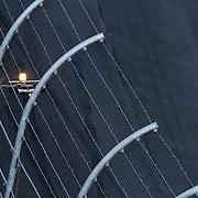 The yellow caution lights come on during the Daytona 500 at Daytona International Speedway on February 20, 2011 in Daytona Beach, Florida. (AP Photo/Alex Menendez)