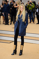 Arrivals for Burberry Prorsum Spring / Summer 2014. <br /> Gabirelle Wilde arrives for the Burberry Prorsum Spring / Summer 2014 show, London, United Kingdom. Monday, 16th September 2013. Picture by Chris Joseph / i-Images
