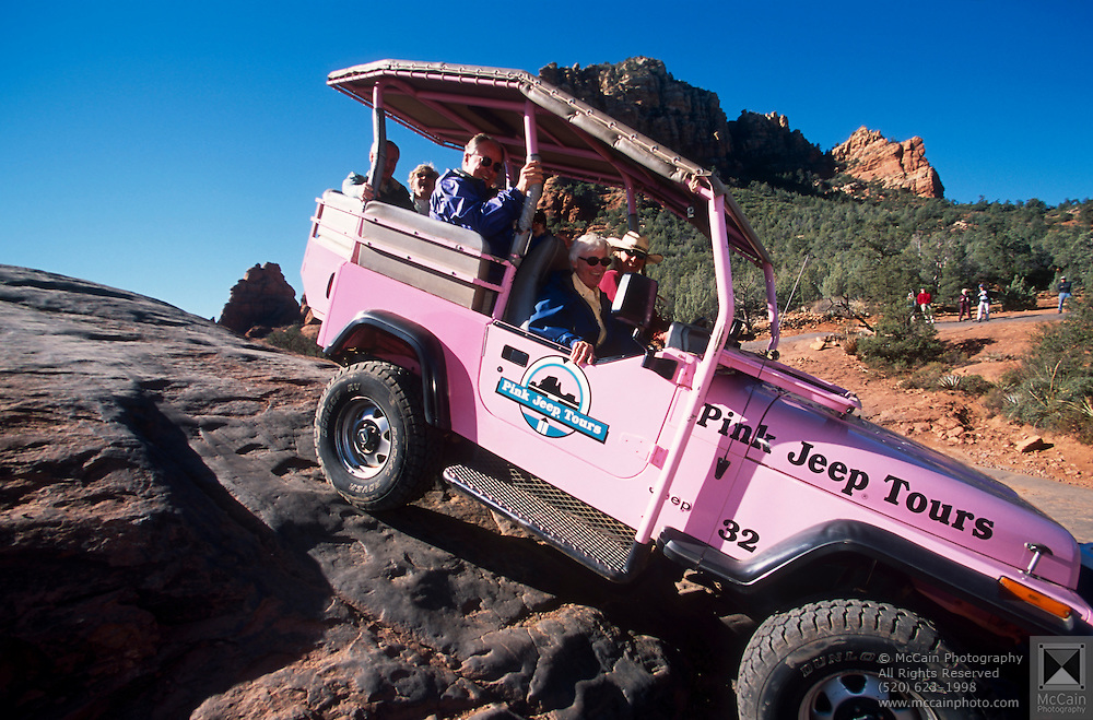 Pink Jeep Tour Red Rock Country Steep Trails Sedona