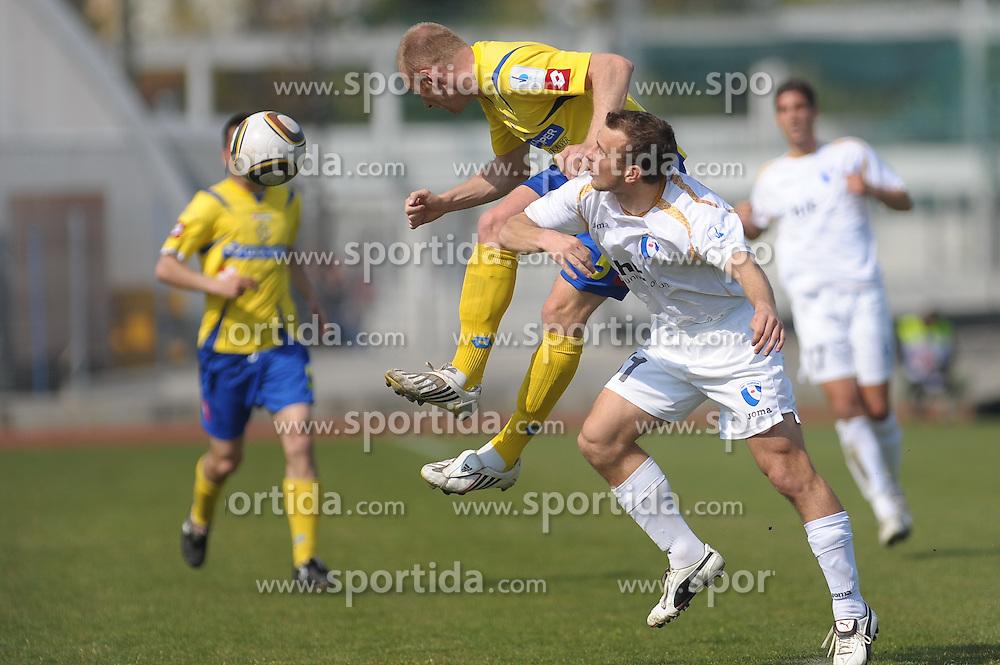 Rakuscek of Gorica and Polovanec of Koper at football match of 30th Round of 1st Slovenian League between Luka Koper and NK Hit Gorica, on April 17, 2010, in Sportni park, Nova Gorica, Slovenia. (Photo by foto-forma/ Sportida)