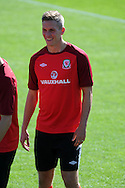 Steve Morison of Wales. Wales football players training at the Vale, in Cardiff on Wed 5th Sept 2012, ahead of their forthcoming World cup qualifier against Belgium on Friday 8th Sept.  pic by  Andrew Orchard, Andrew Orchard sports photography,