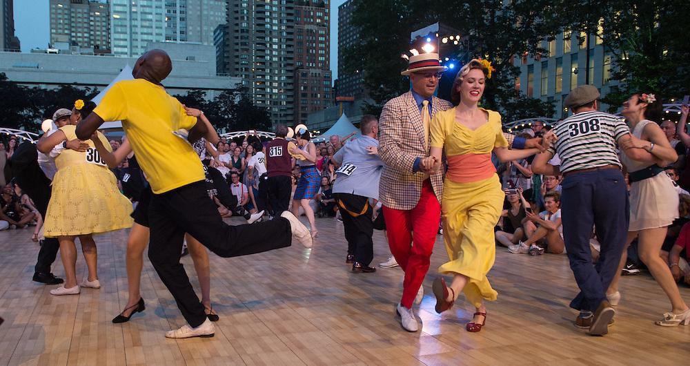 Dance Contest particpants and judges