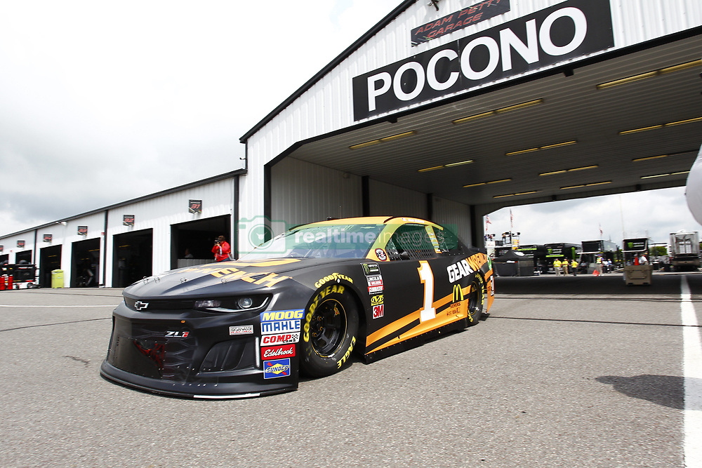 June 1, 2018 - Long Pond, Pennsylvania, United States of America - Jamie McMurray (1) takes to the track to practice for the Pocono 400 at Pocono Raceway in Long Pond, Pennsylvania. (Credit Image: © Justin R. Noe Asp Inc/ASP via ZUMA Wire)