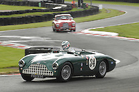 HSCC Gold Cup Oulton Park, Cheshire, United Kingdom.  28th-29th August 2011.  Race 15 Woodcote Trophy Supported by EFG Private Bank.  34 Mark Midgeley/Richard Hope - Aston Martin DB3. World Copyright: Peter Taylor/PSP. Copy of publication required for printed pictures. Every used picture is fee-liable.