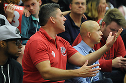 Bristol Flyers fans - Mandatory byline: Dougie Allward/JMP - 07966 386802 - 10/09/2015 - BASKETBALL - SGS Wise Arena - Bristol, England - Bristol Flyers v USA Select.