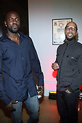 l to r: Ajile Turner and Common at the Common Celebration Capsule Line Launch with Softwear by Microsoft at Skylight Studios on December 3, 2008 in New York City..Microsoft celebrates the launch of a limited-edition capsule collection of SOFTWEAR by Microsoft graphic tees designed by Common. The t-shirt  designs. inspired by the 1980's when both Microsoft and and Hip Hop really came of age, include iconography that depicts shared principles of the technology company and the Hip Hop Star.