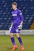 Stoke City U23's Goalkeeper, Josef Bursik (46) during the EFL Trophy match between Bury and U23 Stoke City at the JD Stadium, Bury, England on 8 November 2017. Photo by Mark Pollitt.