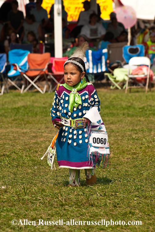 Crow Fair, powwow, Traditional Dancer, kids, Crow Indian Reservation, Montana