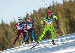 FAK Jakov of Slovenia competes during Men 12.5 km Mass Start competition of the e.on IBU Biathlon World Cup on Sunday, March 9, 2014 in Pokljuka, Slovenia. Photo by Vid Ponikvar / Sportida