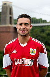 Derrick Williams of Bristol City - Photo mandatory by-line: Kieran McManus/JMP - Tel: Mobile: 07966 386802 31/07/2013 - SPORT - FOOTBALL - Avon Gorge Hotel - Clifton Suspension bridge - Bristol -  Team Photo