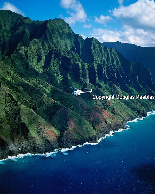 Helicopter, Napali Coast, Kauai, Hawaii<br />