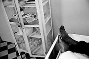 Maputo. People ill with Aids getting treatment at the central hospital.
