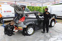 30.06.2015, Pasym, POL, FIA, WRC, Ralley Polen, Training, im Bild ROBERT KUBICA I PILOT MACIEJ SZCZEPANIAK TESTUJA FORDA FIESTE WRC NA WARMINSKICH SZUTRACH NA ZDJECIU FORD FIESTA RS WRC SERWIS SERVIS // during a trainingssession of FIA, WRC Poland Ralley at Pasym, Poland on 2015/06/30. EXPA Pictures © 2015, PhotoCredit: EXPA/ Newspix/ Bogdan Hrywniak<br /> <br /> *****ATTENTION - for AUT, SLO, CRO, SRB, BIH, MAZ, TUR, SUI, SWE only*****