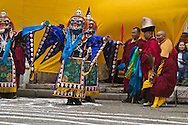 Mongolia. Ulaanbaatar. Tsam dance . budhist ceremony in Dashi choiling monastery. traditional masks  Ulanbaatar -