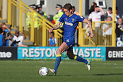 AFC Wimbledon defender Paul Robinson (6) dribbling during the EFL Sky Bet League 1 match between AFC Wimbledon and Bury at the Cherry Red Records Stadium, Kingston, England on 5 May 2018. Picture by Matthew Redman.