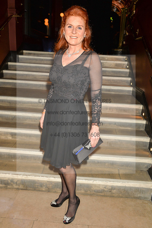 SARAH, DUCHESS OF YORK at an Evening of Riviera Inspired Glamour in aid of CLIC Sargentheld at Sketch, 9 Conduit Street, London on 25th January 2016.