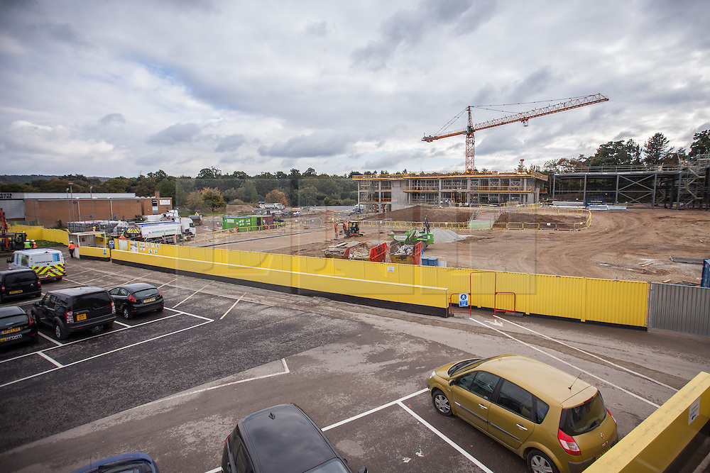 "@Licensed to London News Pictures 15/10/15. Sevenoaks, Kent. Site location in Sevenoaks, Kent for the first grammar school to be built in England for 50 years. The Weald of Kent school in Tonbridge is to open this site as an ""annexe"" and will be named the Trinity School. Photo credit: Manu Palomeque/LNP"