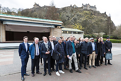International architects fly in to Edinburgh for their first sight of West Princes Street Gardens as they compete to design a new venue to replace the Ross Bandstand.<br /> <br /> Chair Norman Springford and Project Manager David Ellis from the Ross Development Trust provide visiting teams with a tour of the Gardens and existing Bandstand site.<br /> <br /> A competition to replace the Ross Bandstand in the heart of Edinburgh's West Princes Street Gardens with a new landmark Pavilion has received worldwide interest from architects and designers.<br /> <br /> Entries from 125 teams spanning 22 countries and made of 400 individual firms have been narrowed down to seven finalists. <br /> <br /> The seven finalists will be invited to create concept designs for the £25m project brief, which includes a new landmark venue to replace the bandstand, a visitor centre and subtle updates to West Princes Street Gardens.<br /> <br /> Each of the finalist teams will be led by the following architects:<br /> <br /> - Adjaye Associates (UK)<br /> - BIG Bjarke Ingels Group (Denmark)<br /> - Flanagan Lawrence (UK)<br /> - Page \ Park Architects (UK)<br /> - Reiulf Ramstad Arkitekter (Norway)<br /> - wHY (USA)<br /> - William Matthews Associates (UK) and Sou Fujimoto Architects (Japan)<br /> <br /> Pictured: The seven design teams in front of the Ross Theatre