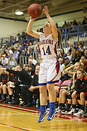 Washington Warrior's Devin Glenski (14) makes a three point basket during their Regional Semi-Final game at Washington High School in Cedar Rapids on Saturday, February 16 2013.