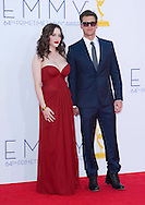 "KAT DENNINGS AND NICK ZANO - 64TH PRIME TIME EMMY AWARDS.Nokia Theatre Live, Los Angelees_23/09/2012.Mandatory Credit Photo: ©Dias/NEWSPIX INTERNATIONAL..**ALL FEES PAYABLE TO: ""NEWSPIX INTERNATIONAL""**..IMMEDIATE CONFIRMATION OF USAGE REQUIRED:.Newspix International, 31 Chinnery Hill, Bishop's Stortford, ENGLAND CM23 3PS.Tel:+441279 324672  ; Fax: +441279656877.Mobile:  07775681153.e-mail: info@newspixinternational.co.uk"