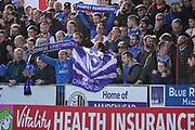 Portsmouth fans during the The FA Cup 1st round match between Maidenhead United and Portsmouth at York Road, Maidenhead, United Kingdom on 10 November 2018.