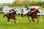 Champs De Reves ridden by David Probert and trained by Michael Blake in the F45 Bath Training Guaranteed Results Handicap race. Simbirsk ridden by Shane Kelly and trained by John O'Shea in the F45 Bath Training Guaranteed Results Handicap race.  - Ryan Hiscott/JMP - 06/05/2019 - PR - Bath Racecourse- Bath, England - Kids Takeover Day - Monday 6th April 2019