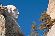 Jefferson profile, Mount Rushmore, Mount Rushmore National Memorial, South Dakota, USA