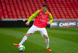 Matej Mavric Rozic during practice session of Slovenia National football team One day before EURO 2012 Quaifications game between National teams of Slovenia and Northern Ireland, on March 28, 2011, in Windsor Park Stadium, Belfast, Northern Ireland, United Kingdom. (Photo by Vid Ponikvar / Sportida)