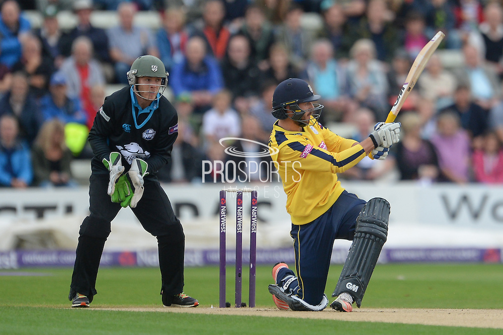 James Vince during the NatWest T20 Blast Quarter Final match between Worcestershire County Cricket Club and Hampshire County Cricket Club at New Road, Worcester, United Kingdom on 14 August 2015. Photo by David Vokes.