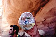 Water bottle, Middle East Tek, Wadi Rum, Jordan, 2008