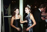 Princess Irina Strozzi and Lauren Bush. Crillon Haute Couture Ball. Crillon Hotel, Paris. 2 December 2000. © Copyright Photograph by Dafydd Jones 66 Stockwell Park Rd. London SW9 0DA Tel 020 7733 0108 www.dafjones.com