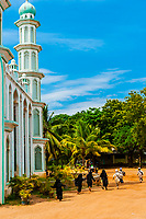 Muslim children going to Madrasa (religious school) at mosque near Trincomaleee, Sri Lanka.