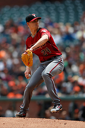 SAN FRANCISCO, CA - MAY 26: Luke Weaver #24 of the Arizona Diamondbacks pitches against the San Francisco Giants during the first inning at Oracle Park on May 26, 2019 in San Francisco, California.  (Photo by Jason O. Watson/Getty Images) *** Local Caption *** Luke Weaver