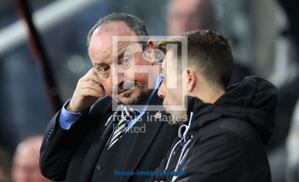 Newcastle United manager Rafa Benitez (l) prior to the Premier League match at St. James's Park, Newcastle<br /> Picture by Simon Moore/Focus Images Ltd 07807 671782<br /> 27/12/2017