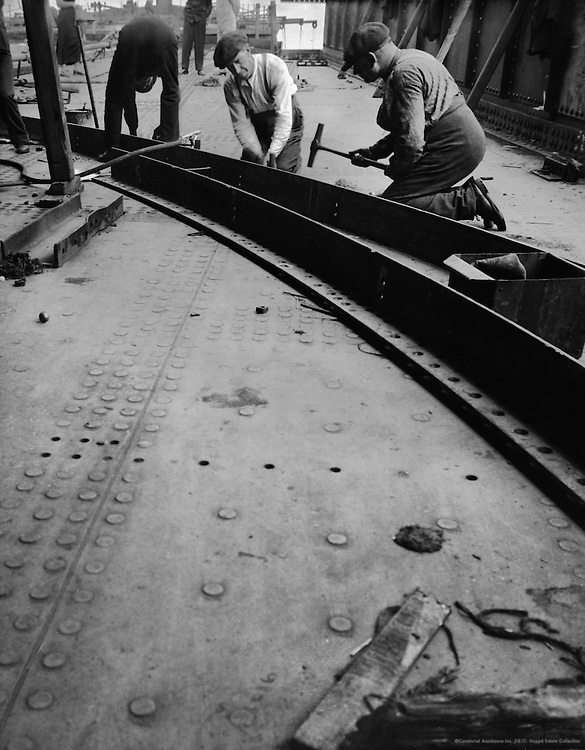 Steelworkers, Cunard Lines, England, 1934