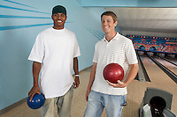 Young Men in Bowling Alley