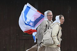 May 2, 2019 - Oswiecim, Poland - Thousands of young Jewish people from Israel and from all around the world arrived to the former German Nazi Death Camp Auschwitz-Birkenau  to take part in the annual March of the Living.   .On Thursday, May 2, 2019, in Former Auschwitz Nazi Concentration Camp, Oswiecim, Poland. (Credit Image: © Artur Widak/NurPhoto via ZUMA Press)