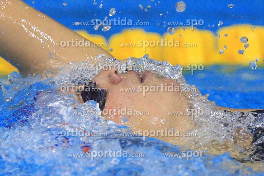 Anja Carman of Slovenia swims to placed 4th in the women's 200m backstroke final race at day 4 of LEN European Short Course Swimming Championships Rijeka 2008, on December 14, 2008,  in Kantrida pool, Rijeka, Croatia. (Photo by Vid Ponikvar / Sportida)