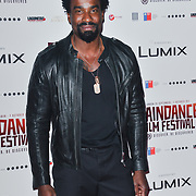 Oris Erhuero attends the Raindance Opening Gala 2018 held at Vue West End, Leicester Square on September 26, 2018 in London, England.
