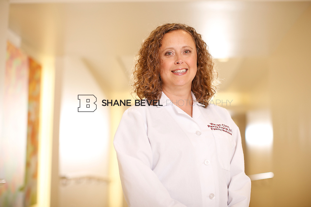 5/28/15 4:12:54 PM -- Dr. Renee Frenier of Saint Francis Health System poses for a portrait for the 2015 Advertising Campaign. <br /> <br /> Photo by Shane Bevel