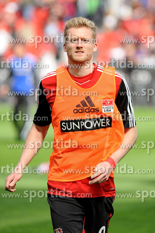 20.04.2013, BayArena, Leverkusen, GER, 1. FBL, Bayer 04 Leverkusen vs TSG 1899 Hoffenheim, 30. Runde, im Bild Andre Schuerrle ( Bayer 04 Leverkusen/ Portrait ) // during the German Bundesliga 30th round match between Bayer 04 Leverkusen and TSG 1899 Hoffenheim at the BayArena, Leverkusen, Germany on 2013/04/20. EXPA Pictures © 2013, PhotoCredit: EXPA/ Eibner/ Thomas Thienel..***** ATTENTION - OUT OF GER *****