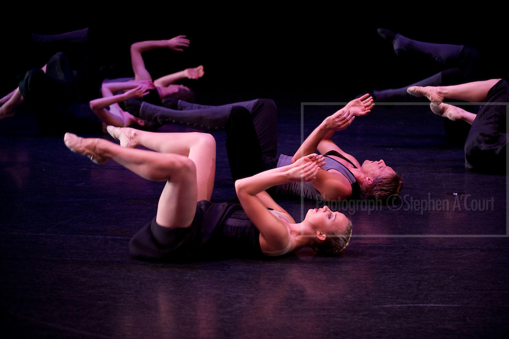 At a rehearsal of Kiwi+Kylian, the NZ School of Dance Graduation season at Te Whaea, Wellington, NZ, in November 2010.