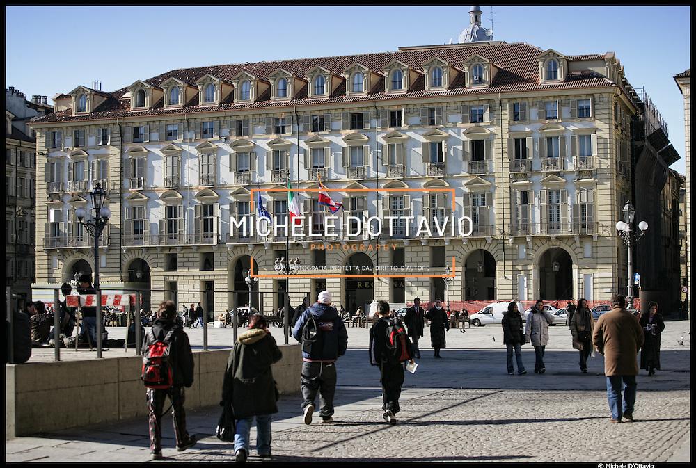 Palazzo della Regione Piemonte nella centralissima e storica Piazza Castello a Torino