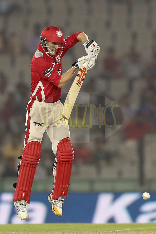 George Bailey during match 2 of the Oppo Champions League Twenty20 between the Kings XI Punjab and the Hobart Hurricanes held at the Punjab Cricket Association Stadium, Mohali, India on the 18th September 2014. Photo by:  Jacques Rossouw / Sportzpics/ CLT20<br /> <br /> <br /> Image use is subject to the terms and conditions as laid out by the BCCI/ CLT20.  The terms and conditions can be downloaded here:<br /> <br /> http://sportzpics.photoshelter.com/gallery/CLT20-Image-Terms-and-Conditions-2014/G0000IfNJn535VPU/C0000QhhKadWcjYs