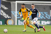 Brighton and Hove Albion midfielder Beram Kayal (7) during the The FA Cup quarter final match between Millwall and Brighton and Hove Albion at The Den, London, England on 17 March 2019.