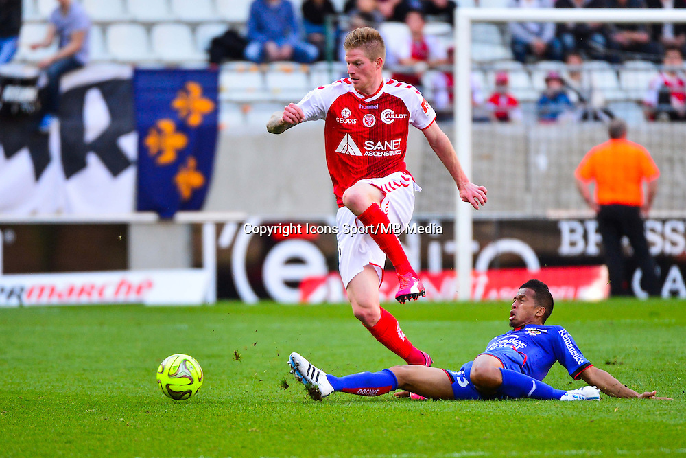 Gaetan CHARBONNIER / Albert RAFETRANIAINA - 12.04.2015 - Reims / Nice - 32eme journee de Ligue 1 <br />