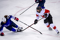 22-02-2018 KOR: Olympic Games day 13, PyeongChang<br /> Final Ice Hockey Canada - USA 2-3 / Laura Stacey #7 of Canada, Kelly Pannek #12 of the United States