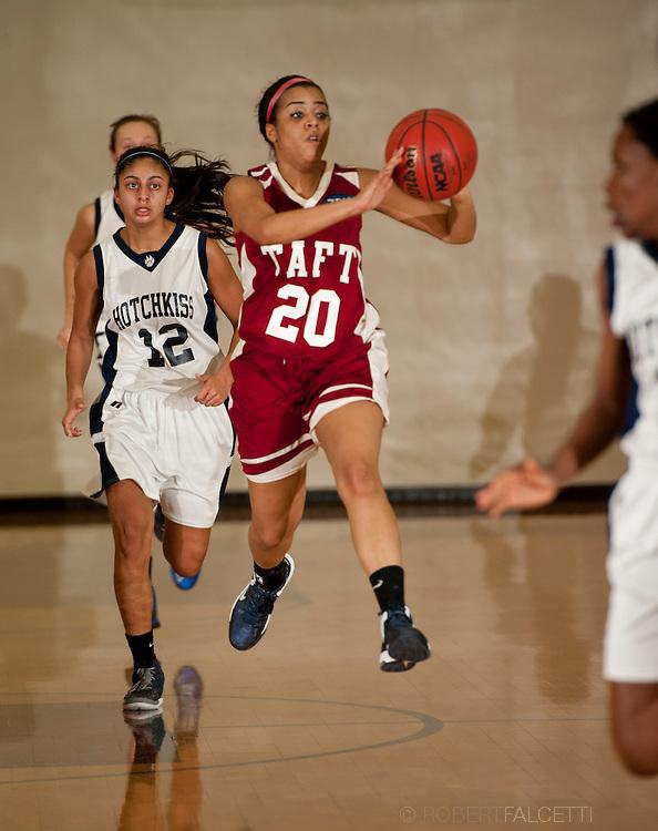 Taft School-February 8, 2014- Girls varsity basketball vs Hotchkiss. (Photo by Robert Falcetti)
