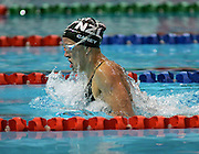 New Zealand's Annabelle Carey swims the breastroke leg of the Women's 4x100m Medley relay on day 6 of the XVIII Commonwealth Games at the Sports and Aquatic Centre, Melbourne, Australia, Tuesday, March 21 2006. Photo: Joe Mann/PHOTOSPORT<br /> <br /> 210306 swimming