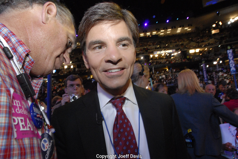 ABC News' Chief Washington Correspondent George Stephanopoulos at the 2008 Democratic National Convention, August 27, 2008 at the Pepsi Center in Denver, Colorado.